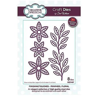 Sue Wilson Finishing Touches Collection Pinwheel Floral Craft Die