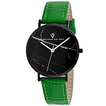 Christian Van Sant Mujeres's Lotus Black Dial Watch - CV0424GR