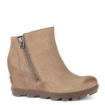 Sorel Joan Of Arctic Ash Brown Wedge Ii Zip Boot