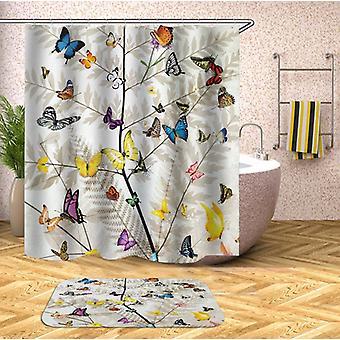 Multi gekleurde vlinders douche gordijn