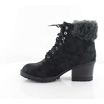 White Mountain Womens Tori Faux Fur Closed Toe Casual Slide Sandals