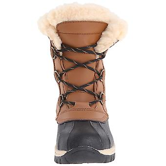Kids Bearpaw Girls Kelly Leather Ankle Pull On Snow Boots