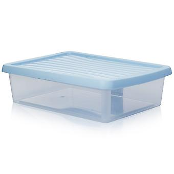Wham Storage 8 Litre Shallow A4 Paper Wham Plastic Storage Box With Lid