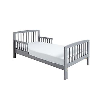 Classic Wooden Toddler Bed Grey Plus Foam Mattress