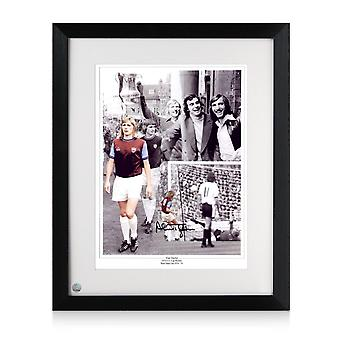 Alan Taylor Signed West Ham United Photograph: 1975 FA Cup Hero Framed
