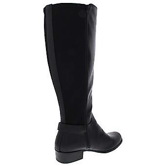 Alfani Womens Kallumm Wide Calf Faux Leather Riding Boots Black 8.5 Medium (B...