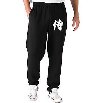 Black tam0009 samurai tracksuit pants