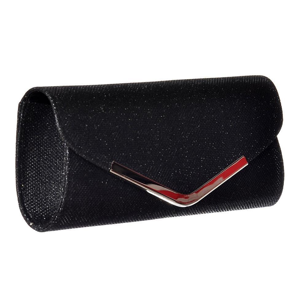 Onlineshoe Sparkly Evening - Clutch Purse Handbag - Gold, Silver, Black