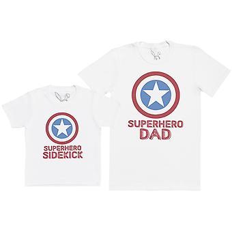Superhero Sidekick - Kid's Gift Set with Kid's T-Shirt & Father's T-Shirt