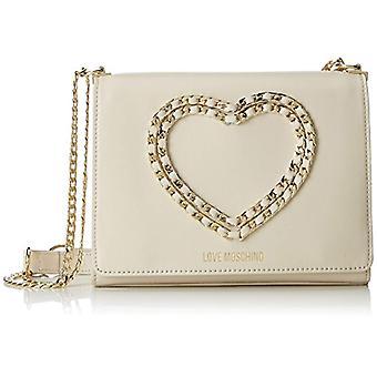 Liebe Moschino Tasche Kalb Bottalato Elfenbein - weiße Damen Schultertaschen (Elfenbein) 6x17x22 cm (B x H T)