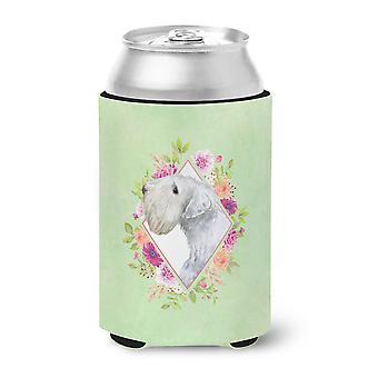 Sealyham Terrier Green Flowers Can or Bottle Hugger