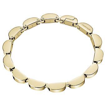Calvin Klein golvende gouden Toon roestvrijstalen armband KJAYJB100200