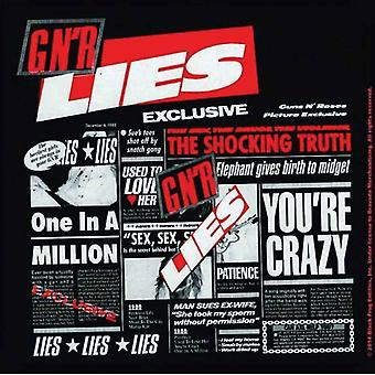 Guns N Roses Coaster Lies album new Official 9.5cm x 9.5cm Cork single drink