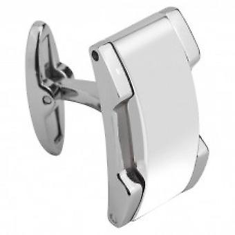M441182 - acero cerámica MING hombre brillante blanco gemelos de trinquete