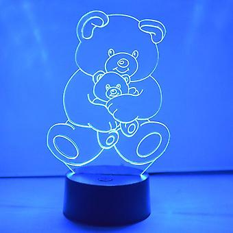 Teddy og Baby Bear LED akryl lys