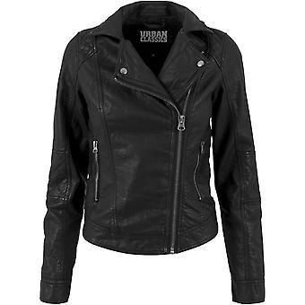 Clássicos Urban ladies - jaqueta de couro motociclista preto