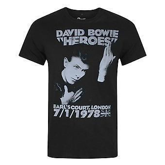 David Bowie Heroes Earls Court Men's T-Shirt