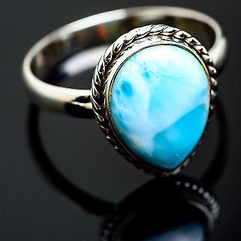 Larimar Ring Taille 13.5 (925 Sterling Silver) - Bijoux Boho Vintage ring993131