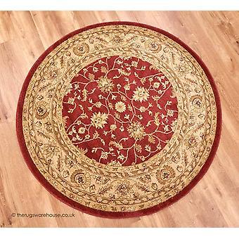 Raya punainen ympyrä matto