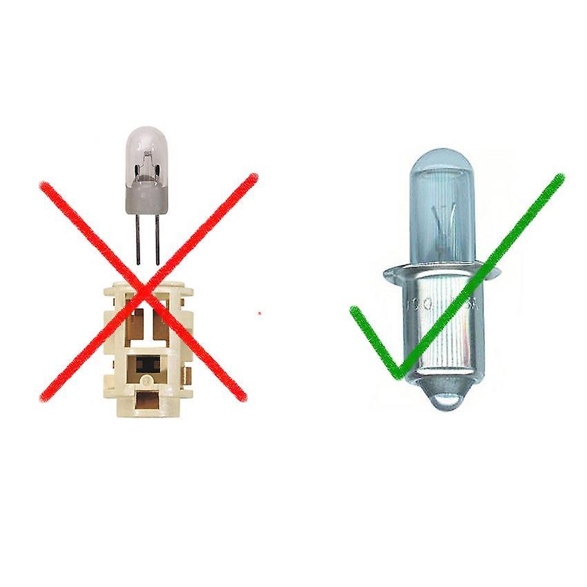 Maglite LED upgrade bulb 120 lumens - 2-6 D cell flashlights - variable voltage