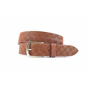 Cintura casual e sosta Light Brown con funemboss