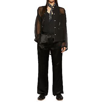 Acne Studios Ak0211900 Women's Black Acetate Pants