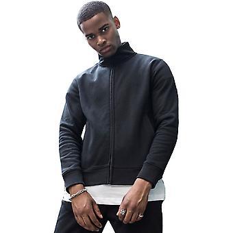 Cotton Addict Mens High Neck Sweat Zip Up Sporty Cardigan