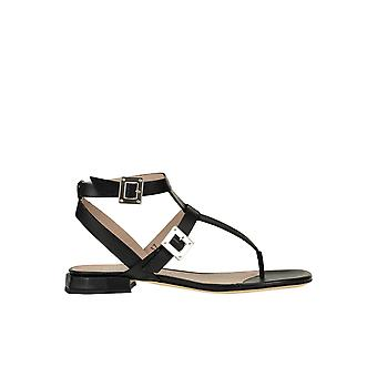 Alberto Gozzi Ezgl249016 Women's Black Leather Sandals