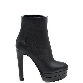 Sergio Rossi Ezbc040023 Women's Black Leather Ankle Boots