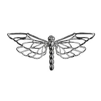 Sølv 26x55mm Dragonfly broche