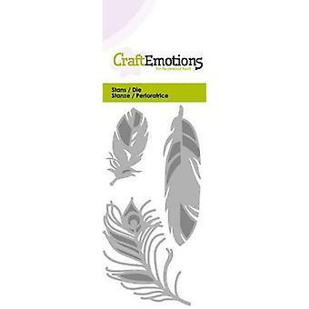 CraftEmotions يموت -- بطاقة الريش 5x10cm
