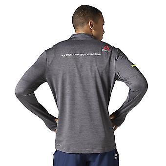 リーボックワンシリーズラン12ジップAX9353ユニバーサルオールイヤーメンTシャツ