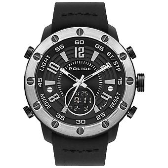 Police watches batur watch for Analog / Digital Quartz Men with Silicone bracelet PL.16015JPBS-02P