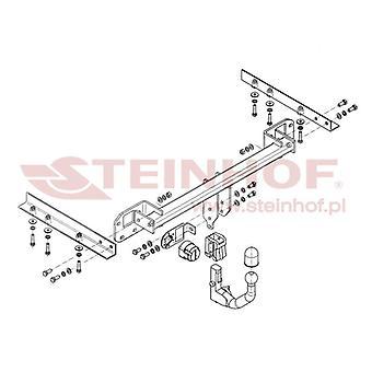 Steinhof Automatische abnehmbare Abschleppstange (Vertikal) für Subaru LEGACY V 2009-2013