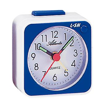 Atlanta 1230/5 Alarm clock quartz analog blue white with light snooze