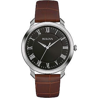 Bulova 96A221 Mænd's Brown Strap Armbåndsur