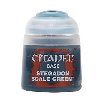 Stegadon Scale Green, Citadel Paint - Base, Warhammer 40,000/Age of Sigmar