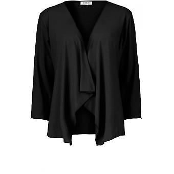 Masai Clothing Itally Black Jersey Cardigan