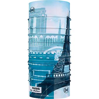 Buff New Original Neck Warmer in City Collection Paris Aqua