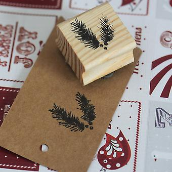 East of India Fir Tree Rubber Stamp - Christmas Craft Xmas Scrapbook