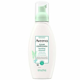 Aveeno clear complexion foaming cleanser, 6 oz