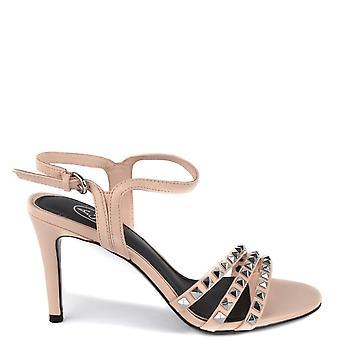 Tuhka jalkineet Hei vaaleanpunainen nahka korkokengät sandaalit