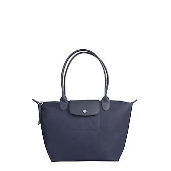 Longchamp 2605598006 Women's Blue Nylon Shoulder Bag