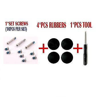 Kit Set for MacBook Pro A1278 A1286 A1297 Bottom Case Rubber Feet Screws Screwdriver