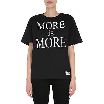 Boutique Moschino 120261403555 Women's Black Cotton T-shirt