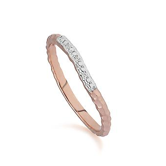 Diamond Pavé Ring Band in 9ct Rose Gold 191R0902029