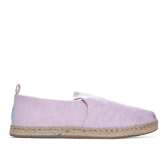 Women's Toms Chambray Deconstructed Espadrille Pumps in Pink