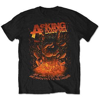 Asking Alexandria Metal Hand Official Tee T-Shirt Mens Unisex