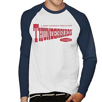 Thunderbirds Classic Logo Men's Baseball Long Sleeved T-Shirt