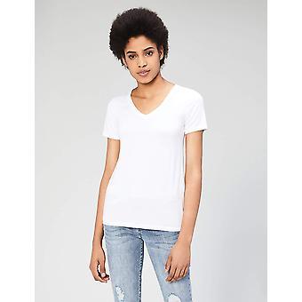 Marque - Daily Ritual Women-apos;s Jersey Short-Sleeve V-Neck T-shirt, Blanc...